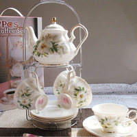 Fashion China ceramic coffee set coffee cup and  pot and dish and tea set for gift