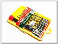 Free shipping 10 in1 high precision CR-V steel Phone Screwdrivers Tool Set Torx + PH + Flat + Pentalobe for iPhone Tools Kit