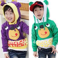2013 autumn bear style baby boys clothing with a hood sweatshirt wt-0695