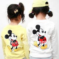 2013 autumn cartoon mouse boys clothing girls clothing fleece sweatshirt outerwear wt-0821