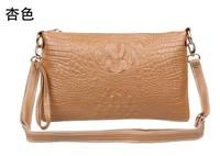 2013 new crocodile grain female bag costly cowhide crocodile patent messenger bag day clutch bag female necessary leisure bag