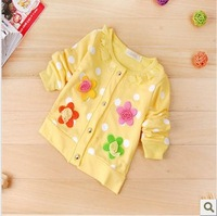 2013 New O-neck long sleeve baby cardigans children knitting sweater coat 3 colors wholesale 4pcs/lot free shipping