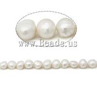 Free shipping!!!Potato Cultured Freshwater Pearl Beads,Cheap, natural, white, AA, 10-11mm, Hole:Approx 0.8mm, Length:15 Inch