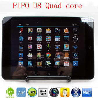 "2013 brands Pipo 7.85"" IPS U8 Quad core RK3188 1.6GHz 2GB/16GB  camera 5.0MP Bluetooth WIFI OTG1024*768 tablet pcs pad laptops"