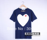 Seiko PLAY Rei Kawakubo classic minimalist white embroidered red heart couple models cotton short-sleeved T-shirt TEE