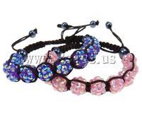 Free shipping!!!Resin Shamballa Bracelets,2013 new fashion girl, with Nylon Cord & Non-magnetic Hematite & Resin Rhinestone