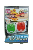 Free shipping (120 pieces/lot) EZ Peel Palm Held Vegetable Peeler zesters Slide on to Finger Wrap Palm Around and Peel(2 pcs))