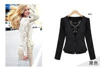 Europe WOMAN SUIT BLAZER JACKET women lace Cardigan clothes suit shrug Coat