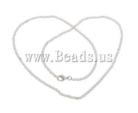 Free shipping!!!Necklace Chain,new arrival, Brass, platinum color plated, nickel, lead & cadmium free, 3x2mm, Length:18 Inch