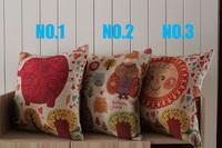 Beautiful Children Park Elephant Owl Sun  Linen Cotton Pillows Decorate Monopoly 1pcs 45 *45cm Wholesale Free Shipping