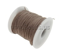 Free shipping!!!Nylon Cord,fashion brand, brown, 1mm, Length:Approx 100 Yard, Sold By PC