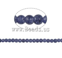 Free shipping!!!Crackle Glass Beads,2013 new fashion girl, Round, purple, 6mm, Hole:Approx 1.5mm, Length:31 Inch, 140PCs/Strand