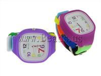 Free shipping!!!Fashion Watch Bracelet,Korea Jewelry, Silicone, 43.5-44x44-45mm, 22mm, Length:Approx 9 Inch, 10PCs/Lot