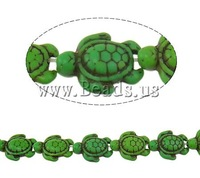 Free shipping!!!Turquoise Beads,2013 fashion women, Synthetic Turquoise, Turtle, green, 18x14.50x7mm, Hole:Approx 2mm