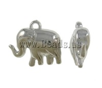 Free shipping!!!Copper Coated Plastic Pendant,Love Jewelry, Elephant, platinum color plated, nickel, lead & cadmium free