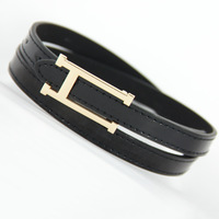 H buckle japanned leather thin belt all-match fashion brief women's belt decoration strap female