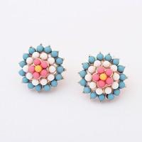 Min.order is $15(mix order)2013 Hot Korea sweet ice cream Flower Earrings