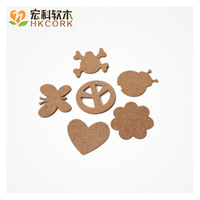 Free shipping Cartoon anti-hot cork mat toy pad animal shape coasters personalized bowl pad 6pcs