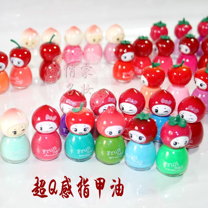 free shipping 10pcs Nail polish oil nail oil polish doll candy fruit nail polish oil 7ml(China (Mainland))