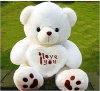 Cartoon plush toy doll cloth doll beetle love bear holding heart birthday gift