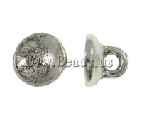 Free shipping!!!Zinc Alloy Jewelry Bail,Whole sale, Dome, antique silver color plated, nickel, lead & cadmium free