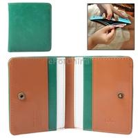 Stylish Leatherette Clutch Green Bag Wallet Billfold Purse Burse for Women