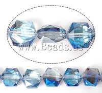 Free shipping!!!Imitation  Crystal Beads,Womens Jewelry, Hexagon, machine faceted, 10x10x6mm, Hole:Approx 1mm, 100PCs/Lot