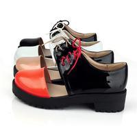 Special Offer 2014 Women's Oxford Shoes Patent Leather Heavy-bottomed Platform Shoes Elegant Ladies Roman Vintage Single Shoes