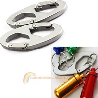R1B1 Cheap 2Pcs 8-Shaped Aluminum Carabiner Clip Hook Useful Hiking Climbing Hanger Buckle