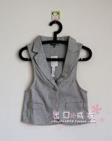 Black 2011 100% cotton simple handsome one button grey vest