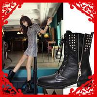 Мода бренда натуральная кожа женщина рыцарь платформы пятки лодыжки снега сапоги для женщин и женщины зимняя обувь #r1709f