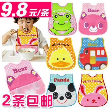 2 infant waterproof rice pocket bibs bib apron child large three-dimensional disposable bib