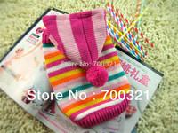 2013 New Winter Lolita Stripe Dog Christmas Sweater