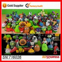 Action Figures Toys Plants vs Zombies Figure Set Game PVC Plant + Zombies Toy For Children Kids Baby  No Duplicate 24Pcs/Set