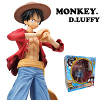 free shipping One Piece Anime P.O.P Monkey D. LUFFY Sailing Again The New World PVC Action Figure Collection Model toy