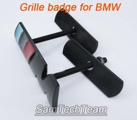 High quality 2pcs drop shipping 3D ///M Black Metal Front Grille car Sticker Emblem For BMW M3 M5 M6 Series X3 X5 X6 Blue Gray