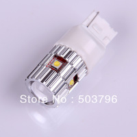 Free shipping 2pc 7440 T20 Xenon White 25W Cree LED Parking Brake Reverse Light Bulb for Sandero subaru impreza megane
