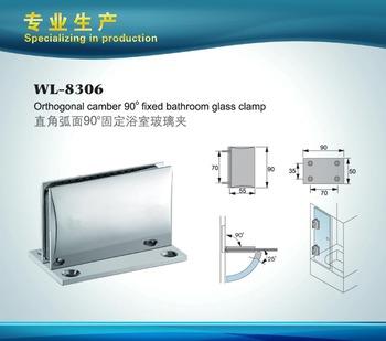 Shower Hinge WL-8306; Orthogonal camber 90 degree fixed bathroom glass clamp
