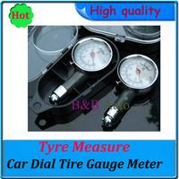Car Tire Tyre Pressure Gauge Dial Measure Metal for Honda VW kia toyota nissan BMW etc car tools Hot sell