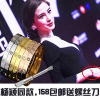 925 pure silver bracelet eternal 18k rose gold fashion screw lovers bracelet hand ring