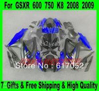 Brand new Fairing kit for 2008 2009 SUZUKI GSXR600 750 GSXR600 GSXR750 K8 08 09 GSXR 600 GSXR 750 Popular blue black fairings bo