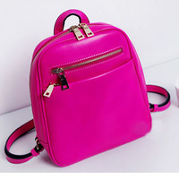 Genuine leather backpack women's handbag small bags casual all-match candy color 2013