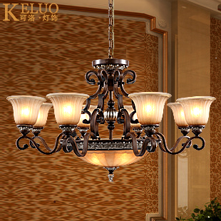 Free shipping Fashion pendant light american style antique lamps classical iron lighting brief 601 - 84