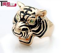 3 k gold Men ring male finger ring tiger steller's