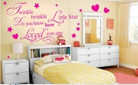 Free Shipping Wholesale-- Twinkle Little Star Wall Sticker 10 Sets/Lot The Decoration Of Home Wall Stickers Decor
