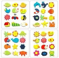 72pcs Cartoon Funny Baby Toy Wooden Fridge Magnet Refrigerator Magnets Frige Sticker Gift