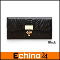 2013 Fashion Genuine Leather Wallet Lady Crocodile Handbag Women Wallet Crocodile wallet Free Shipping