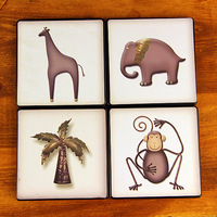Free shipping animal coasters placemat pot holder bowl pad disc pads anti-hot pad monkey