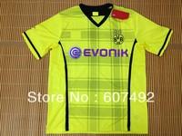 13/14 season Borussia Dortmund home jersey,Borussia Dortmund  shirt only embroidery logo  need shorts add $3 uniforms