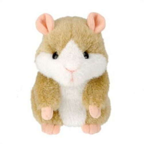 Hot Cute Speak Talking Sound Record Hamster Talking Plush Toy Animal T0256(China (Mainland))